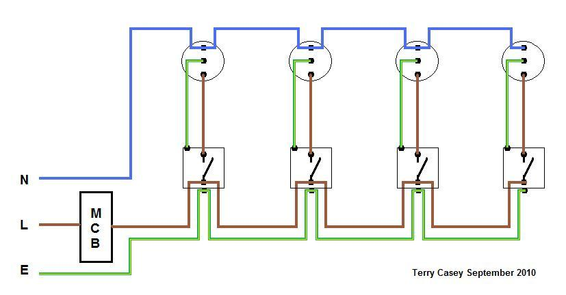 SingleCoreAndEarthLightingCct house wiring for beginners diywiki wiring diagram lighting circuit at bayanpartner.co