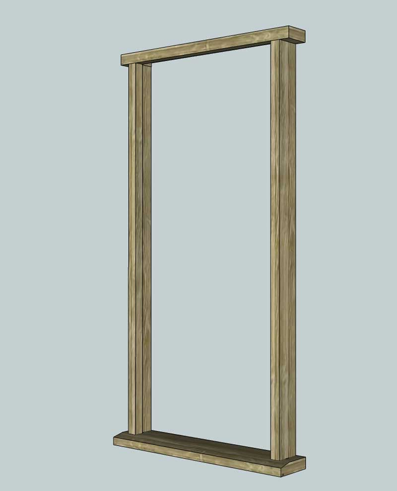 Door frame door frame exterior for External doors and frames
