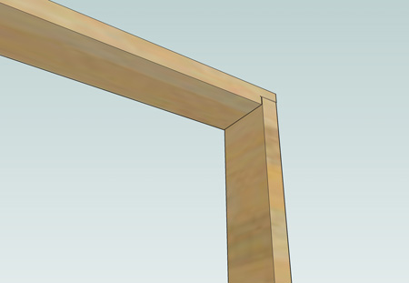 Picture of a rebated door lining joint