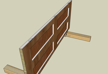 Door with rebates for hinges cut