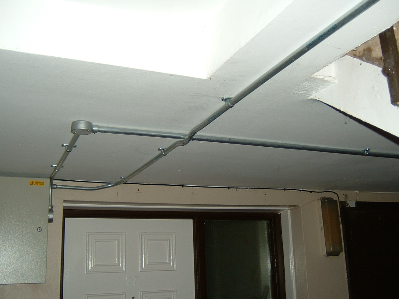 Conlok Conduit on Ceiling.JPG