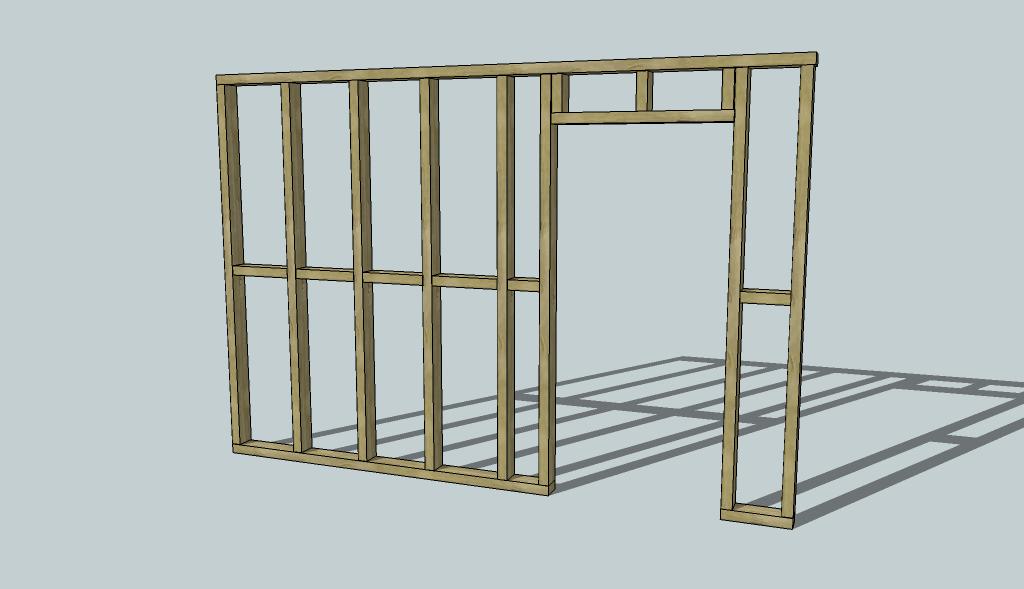Framing An Interior Wall For Studwallwithdoorwaypng Stud Wall Diywiki