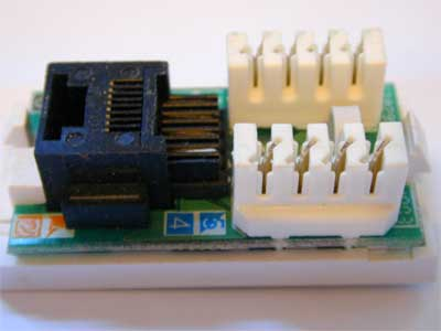 Rj45 Wiring on Typical Rj45 Module Before It Is Wired Or Mounted Into The Modular